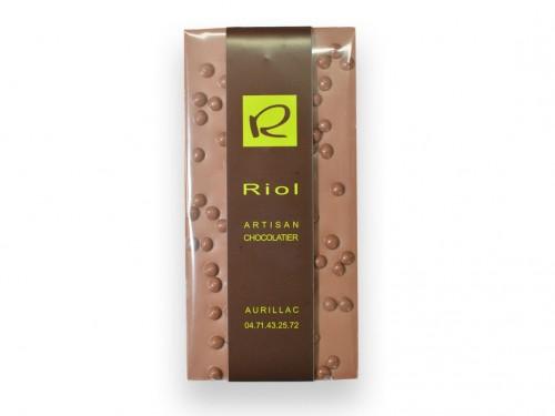Tablette chocolat lactée billes croustillants - confiserieriol.com