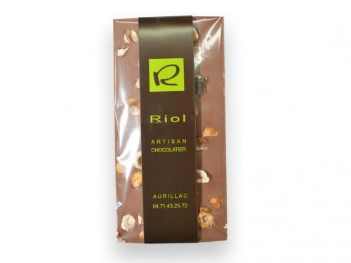 Tablette chocolat lactée noisette - confiserieriol.com