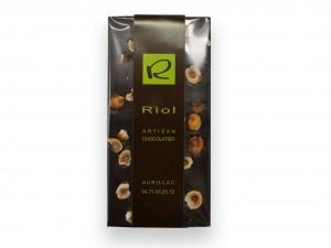 Tablette chocolat noir noisettes - confiserieriol.com