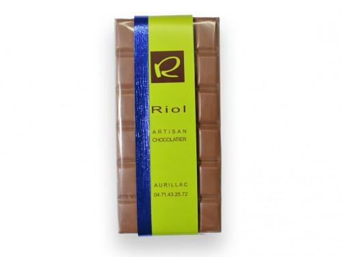 Tablette Chocolat lactée BISKELIA 34% - confiserieriol.com